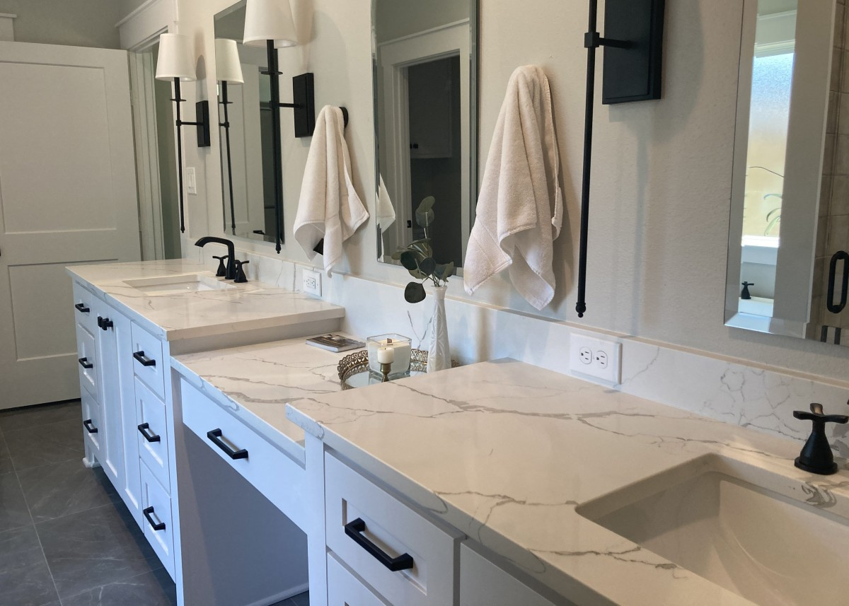 Bathroom countertops made by Granite Division company from Tyler