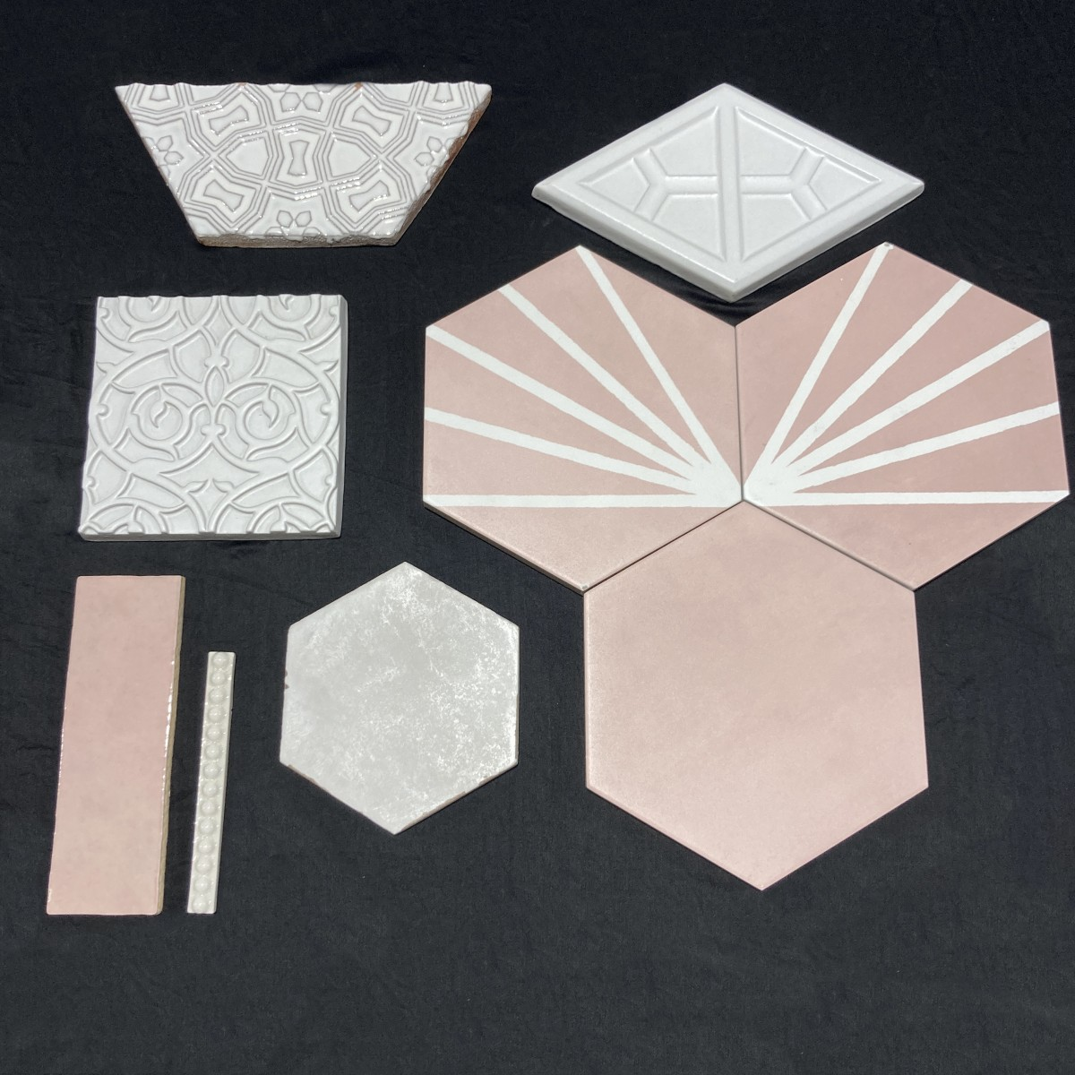 Pretty in pink, design inspiration for tile walls and floors made by Granite Division from Tyler Texas
