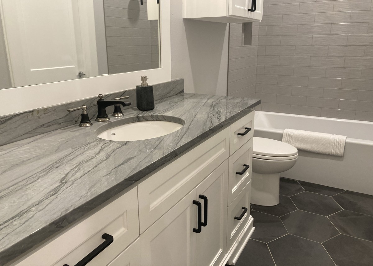 Bathroom sink designed by Granite Division company from Tyler